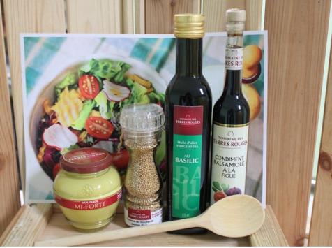 Domaine des Terres Rouges - Kit de Condiments et Huiles à Salade