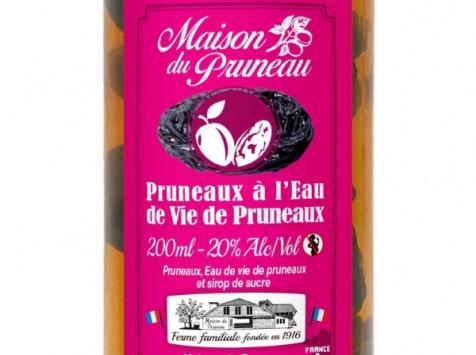 Maison du Pruneau - Cueillette du Gascon - Pruneaux d'Agen IGP à l'Eau de Vie - Bocal de 200ml
