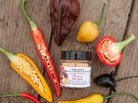 HERBA HUMANA - Piment Tutti Frutti Bio Cultivé en France 12 g