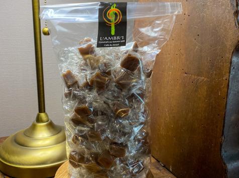 L'AMBR'1 Caramels et Gourmandises - Caramels Au Café Du Brésil - Sachet De 500g