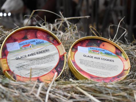 Les Glaces de la Promesse - Glace Avec Kinder Et Glace Aux Cookies  2x 500 Ml