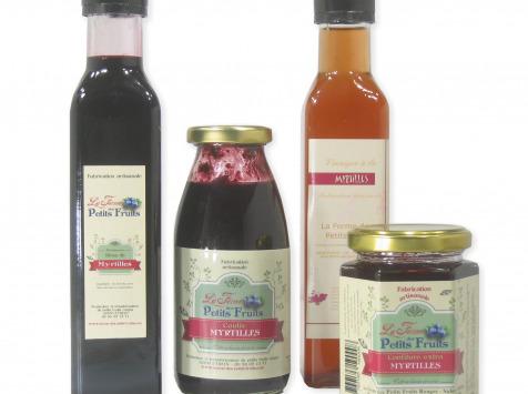 La Ferme des petits fruits - Offre Découverte À La Myrtille : Sirop, Coulis, Confiture Et Vinaigre À La Myrtilles