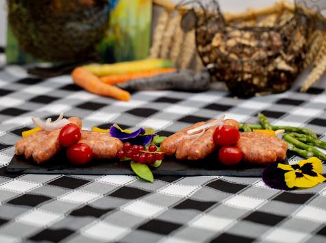 La ferme Grandvillain - Brochettes De Mini Saucisses De Poulet - Chorizo & Emmental - 3 X 120 G