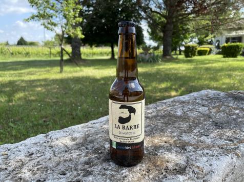 """Vignobles Fabien Castaing - Bière Artisanale Blanche """"La Barbe"""" Haute Fermentation - 33cl"""