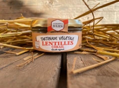 Les Champs de Julien - Tartinade de Lentilles Corail