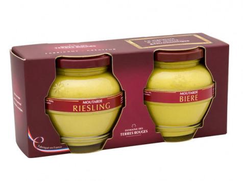 Domaine des Terres Rouges - Coffret Duo de moutarde - 400g
