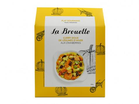 La Brouette - Pour 2 Pers. - Curry Doux De Légumes D'hiver Aux Cramberries