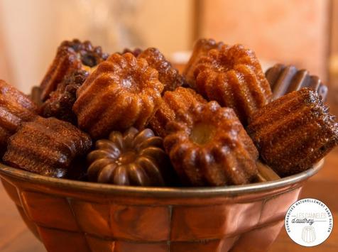 Les Cannelés d'Audrey - Maxi Boîte Découverte des  cannelés Trad, Pépites de chocolat, Grenadine, Rhum - sans gluten