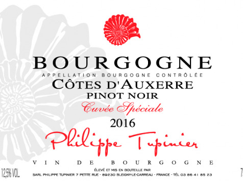 Domaine TUPINIER Philippe - Côte D'Auxerre Rouge 2016  - 6 Bouteilles De 75 Cl
