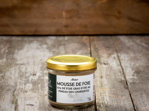 La Ferme Schmitt - Mousse De Foie D'oie D'alsace (50% De Foie Gras D'oie) Au Pineau Des Charentes 70g