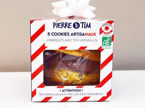 "Pierre & Tim Cookies - Boîte De Noël - 5 Cookies Certifiés ""agriculture Biologique"""