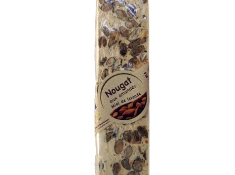 Les amandes et olives du Mont Bouquet - Nougat blanc 100 g - miel lavande