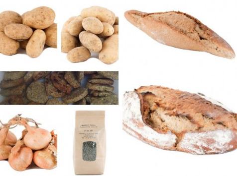 La Ferme du Bois Ramard - Lot Découverte De La Ferme : Pommes De Terre, Oignons Jaunes, Lentille, Pain, Sablés