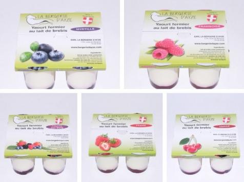 La Bergerie d'Ayze - Le Grand Panier Fruits Rouges (20 Yaourts)