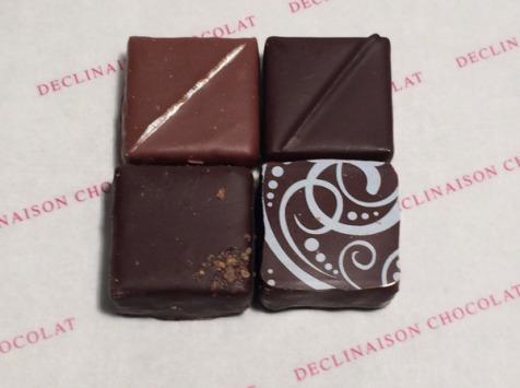 Déclinaison Chocolat - Coffret Dégustation 4 Chocolats