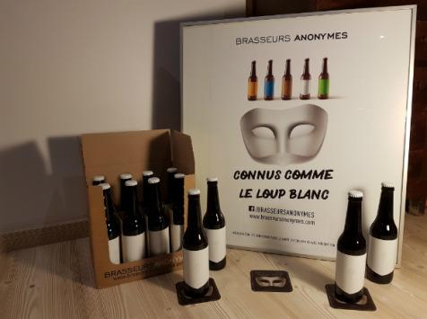 Brasseurs Anonymes - Bière Noire (stout) Intense - 12 Bouteilles