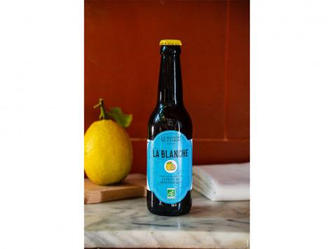 La Maison du Citron - Bière Blanche Bio au Citron de Menton  - 33 cl