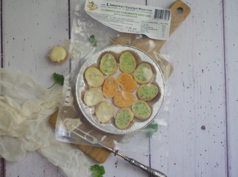Limero l'Escargot Mayennais - Assiette De 12 Croquilles D'escargots Gros Gris Frais Garnies Aux 3 Beurres - Lot de 10
