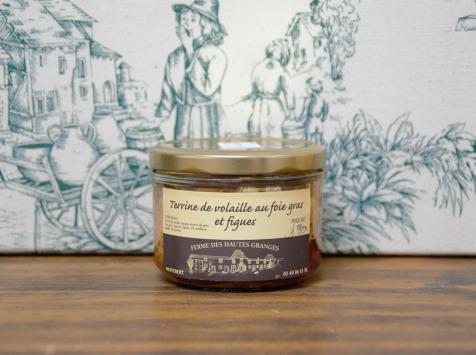 Ferme des Hautes Granges - Terrine de volaille foie gras et figues - 190 g