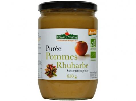 Les Côteaux Nantais - Purée Pommes Rhubarbe 630g