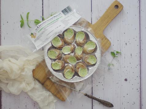 Limero l'Escargot Mayennais - Lot De 10 Assiettes De 12 Coquilles D'escargot Gros Gris FRAIS À La Bourguignonne