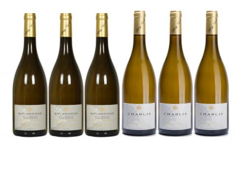 Domaine Tupinier Philippe - 3 Bouteilles de Bourgogne Blanc Vieilles Vignes 2019 Et 3 bouteilles de Chablis 2018