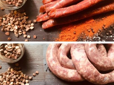Du bio dans l'assiette - [Précommande] Colis Grillades : Merguez Et Saucisses de Porc Gascon Duroc Bio