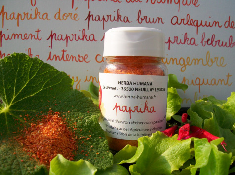 HERBA HUMANA - Paprika Bio Cultivé en France