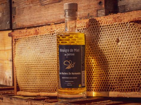 Les Ruchers de Normandie - Vinaigre de miel au Safran 25cl