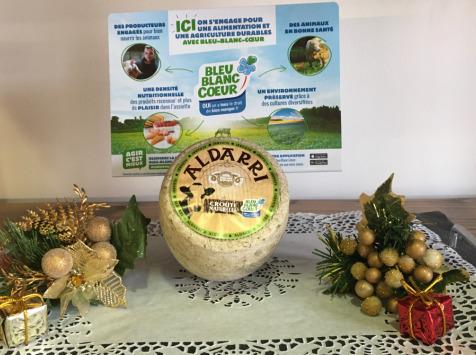 La Fromagerie des Aldudes - Tommette Vache Aldarri Bleu-blanc-cœur Affiné Minimum 2 Mois - 650 G