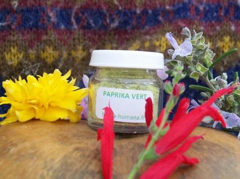 HERBA HUMANA - Paprika Vert Cultivé en France 3g