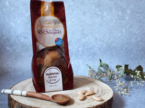 Les amandes et olives du Mont Bouquet - Madeleines miel - amandes  200g