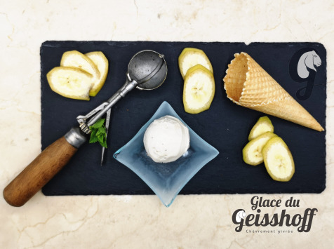 Glace du Geisshoff - Banane Crème Glacée Fermière au Lait de Chèvre 750 ml