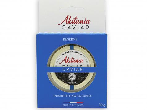 Akitania, Caviar d'Aquitaine - Caviar D'aquitaine Akitania Reserve Rodoide Carton 30g