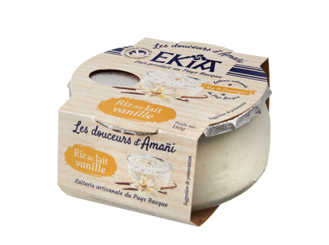 Bastidarra – Ekia - Riz au lait vanille  - 8 pots