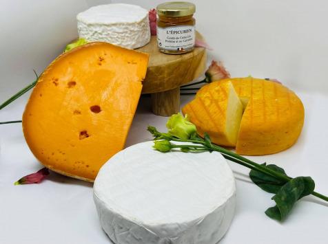 La Fromagerie Sainte Godeleine - Coffret Printemps - 4 fromages + 1 Confit Cidre Calvados - 1,5 kg