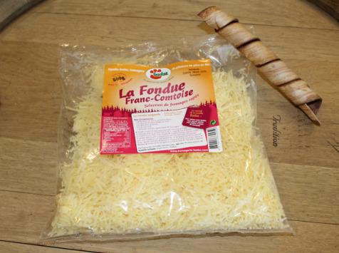 Constant Fromages & Sélections - Fromage Râpé Badoz Pour Fondue Aux 3 Fromages, Sachet De 500g Pour 2/3 Personnes