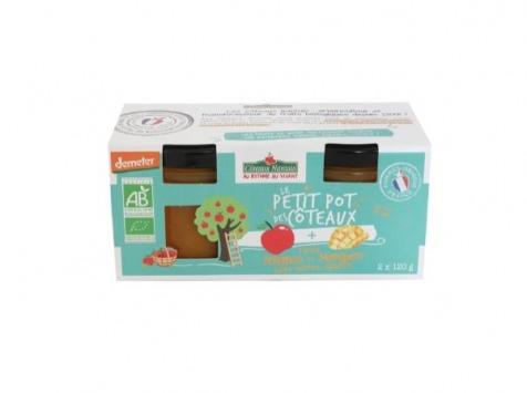 Les Côteaux Nantais - Purée Pommes Mangues 2x120g Bio Demeter