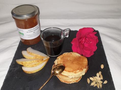 La Ferme du Montet - Confiture Extra de poires cardamone BIO - 220 g