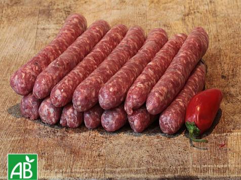 Nature viande - Domaine de la Coutancie - Mix saucisses viande à griller boeuf 6 kg