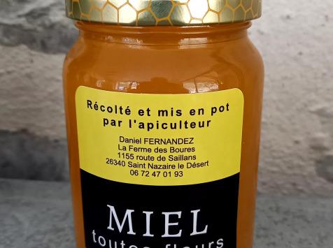 Ferme de Pourcier - Miel D'eté Toutes Fleurs - 1kg