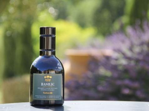 Moulin à huile Bastide du Laval - Huile D'olive Au Basilic Bio 25cl Bouteille