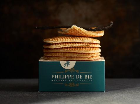 Gaufres Artisanales de Philippe de Bie - Gaufre Vanille Bourbon De Madagascar - Boîte De 6