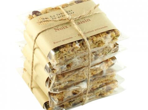 La fabrique du granolier - Pack 5 Barres Noix-raisin