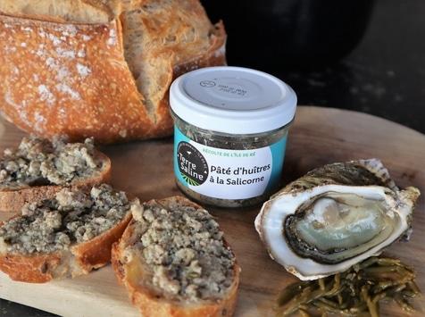 LA FERME DES BALEINES - Paté D'huîtres À La Salicorne - 90 G - Terre Saline