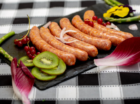 La ferme Grandvillain - Saucisses De Poulet Chorizo Et Emmental 12 X 60 G