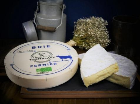 Ferme de La Tremblaye - Brie Fermier Bio Au Lait Cru 1kg