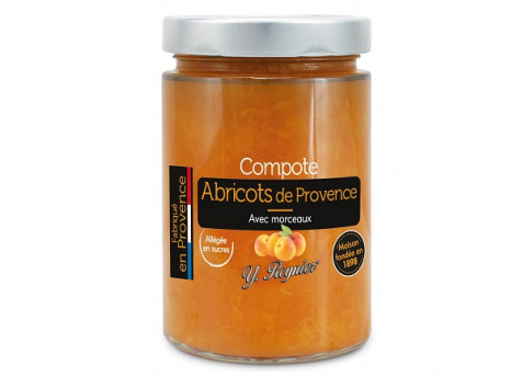 Conserves Guintrand - Compote D'abricots De Provence Allégée En Sucres Yr - Bocal 580 Ml