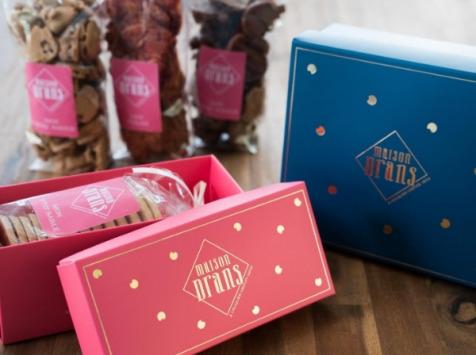 Biscuiterie Maison Drans - Coffret Petite Attention de Croq'amour à la Vanille - 100 g