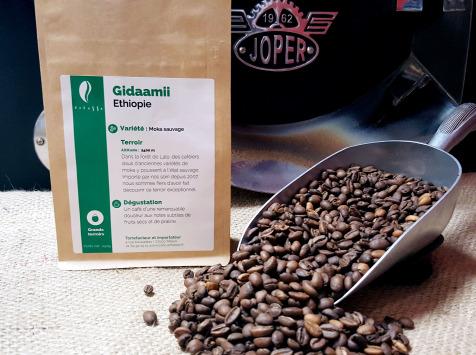 Brûlerie de Melun-Maison Anbassa - Café Gidaamii-ethiopie - En Grains